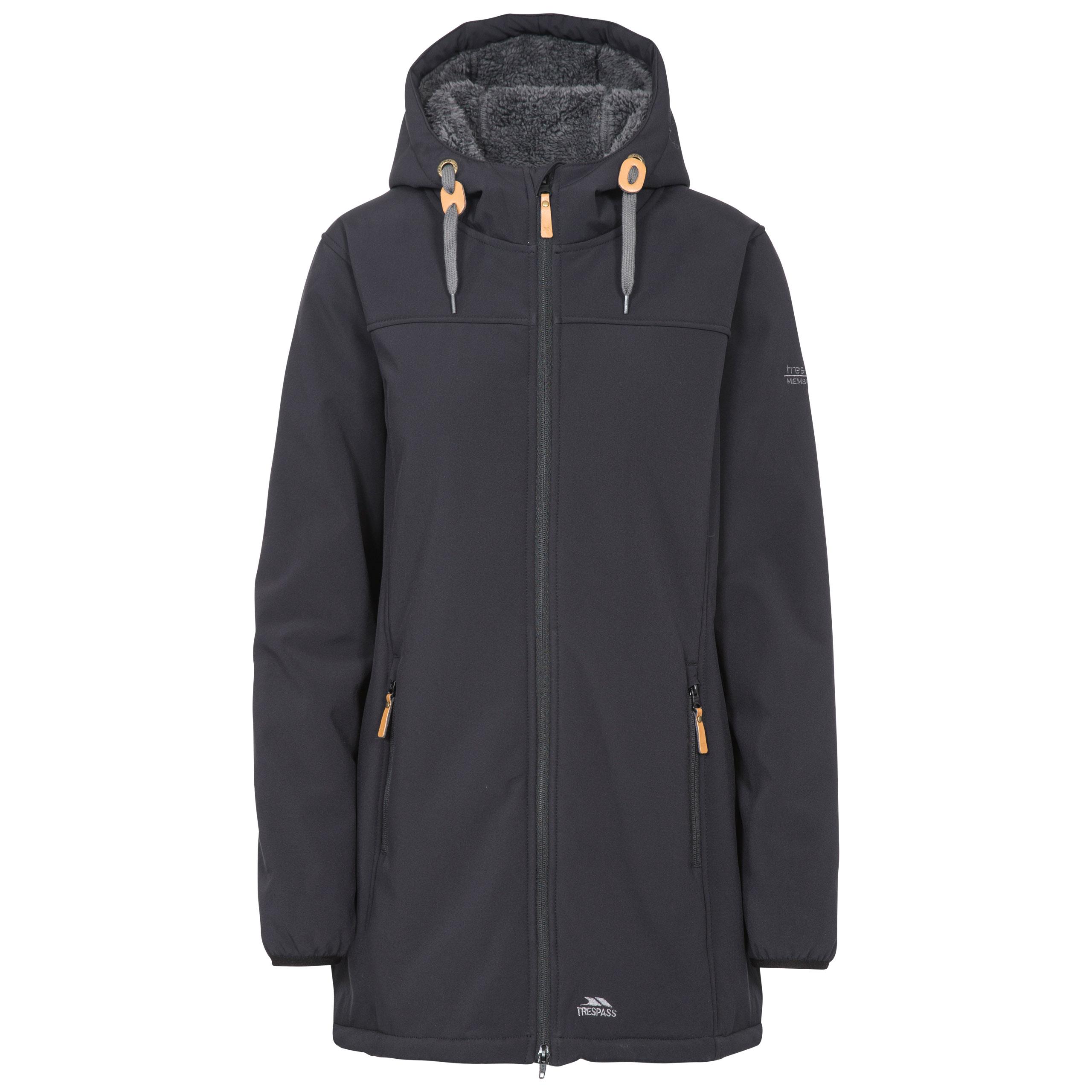 Trespass Ladies Kristen Hip Length Waterproof RaincoatLong Warm Rain Jacket