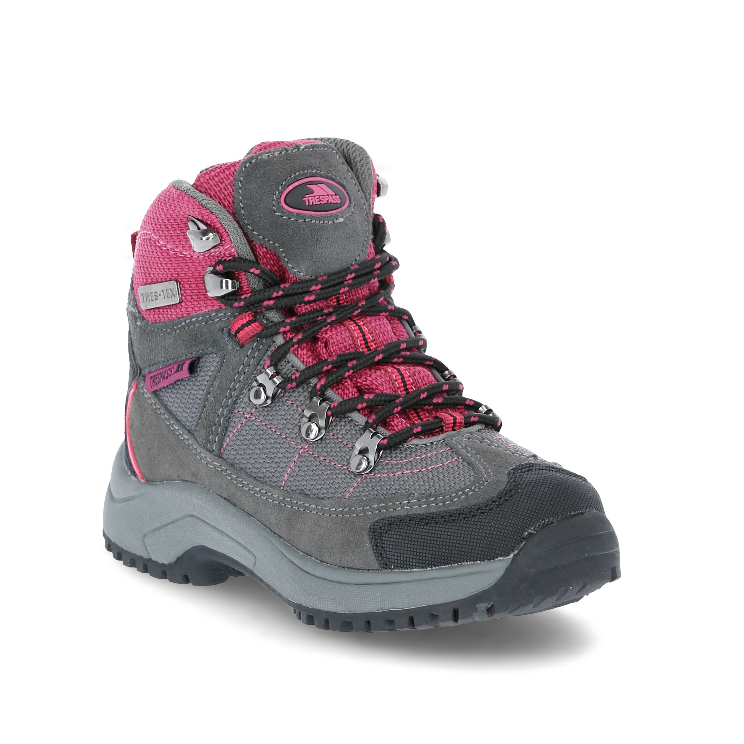 00b8b234760d0 Details about Trespass Laurel Girls Waterproof Walking Boots Breathable  Ankle Hiking Shoes