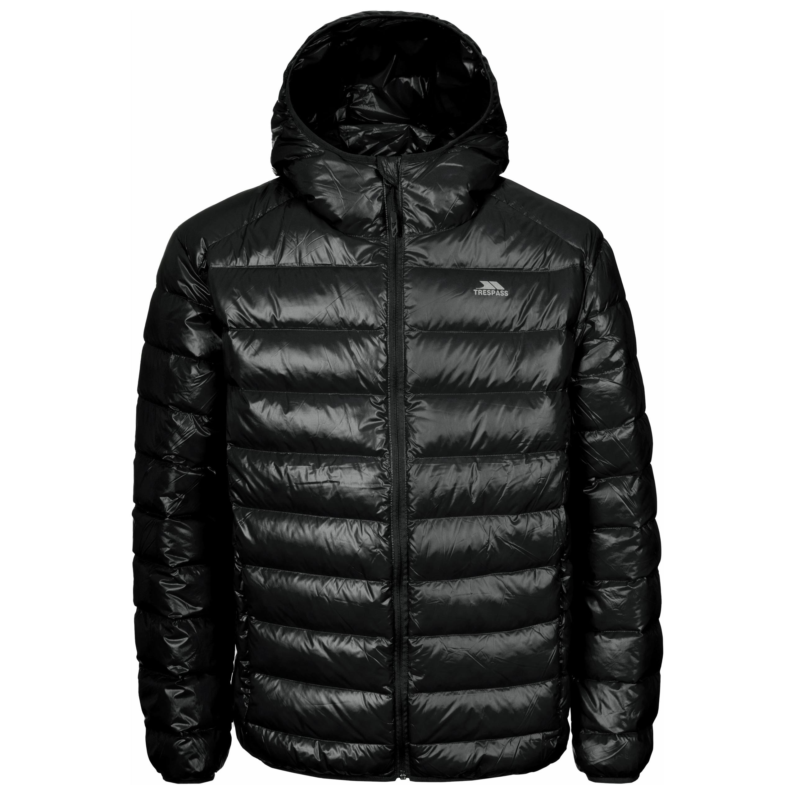 Trespass RAMIREZ Mens Hooded Winter Down Jacket Warm Padded Coat ...