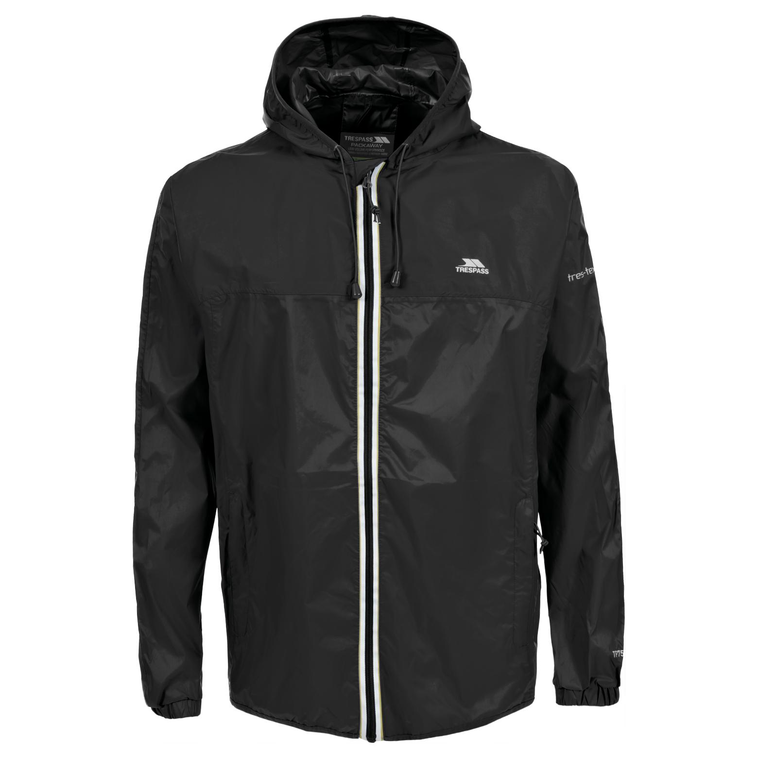 Trespass Malone Mens Waterproof Breathable Hooded Rain Coat Jacket ...