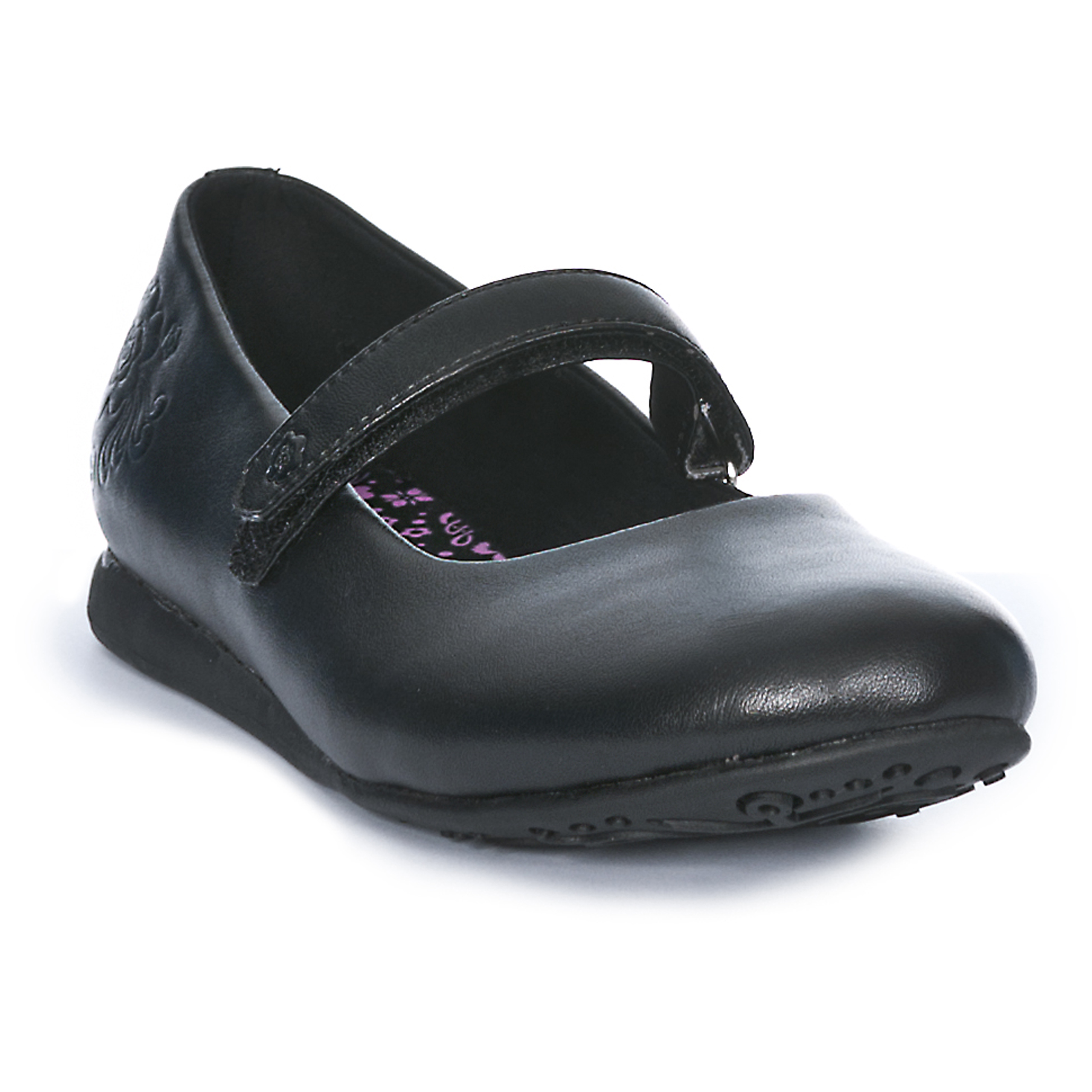 trespass black school shoes