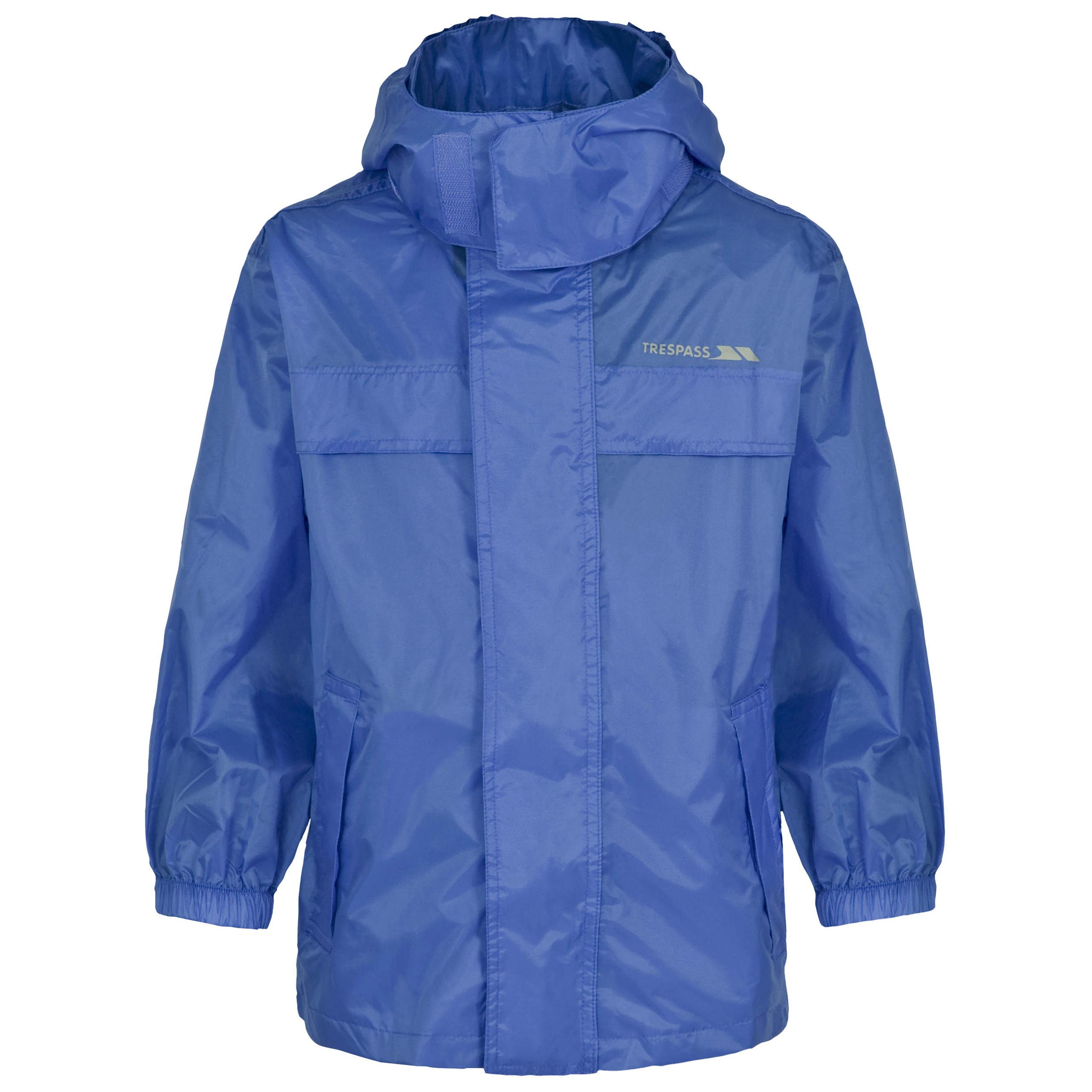 Trespass-Packa-Kids-Waterproof-Jacket-Lightweight-Windproof-Girls-Boys-Raincoat thumbnail 20