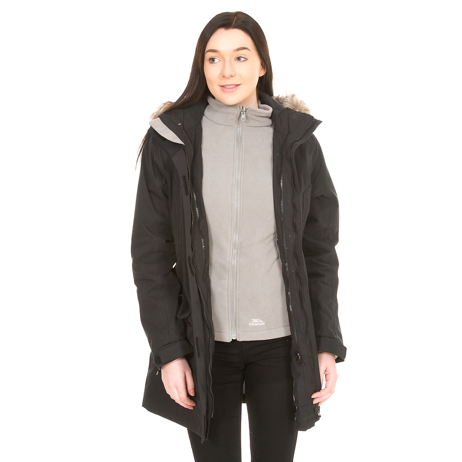 Maebell Womens 3 In 1 Parka Jacket