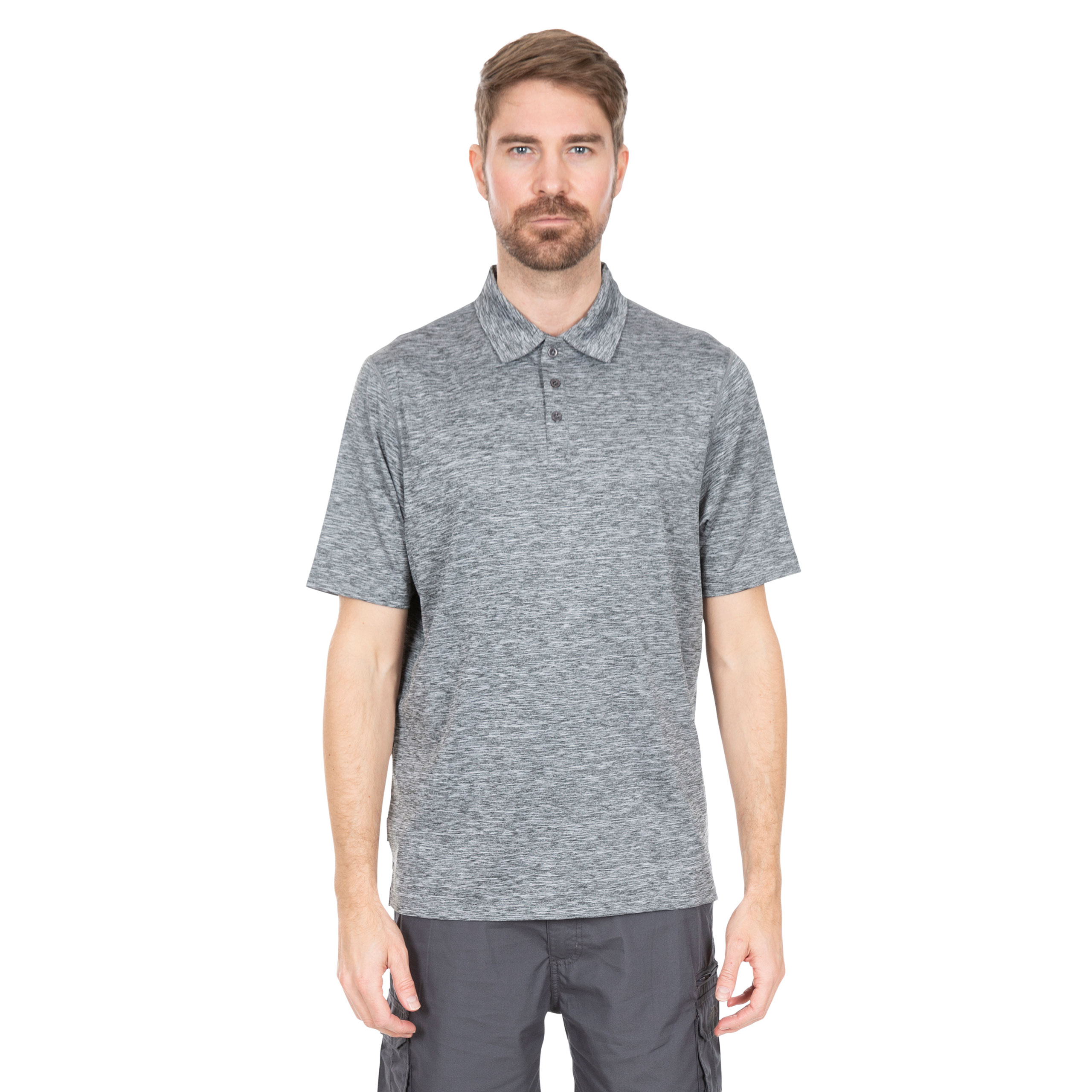 Trespass-Monocle-Mens-Polo-Top-Casual-Gym-T-shirt-in-Grey-amp-Navy thumbnail 14