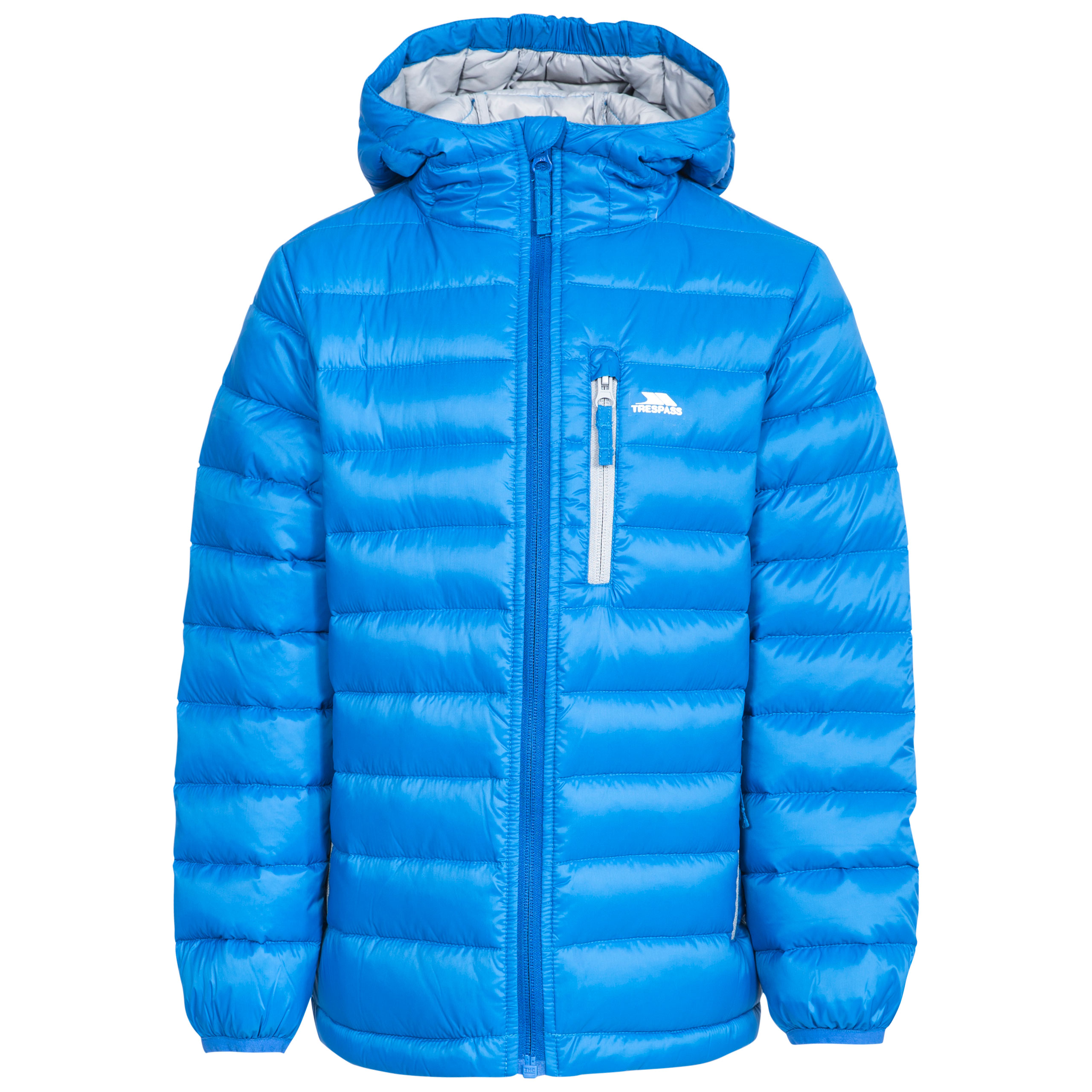 6170e4629800 Trespass Morley Kids Down Jacket with Hood Warm Packaway For Winter ...
