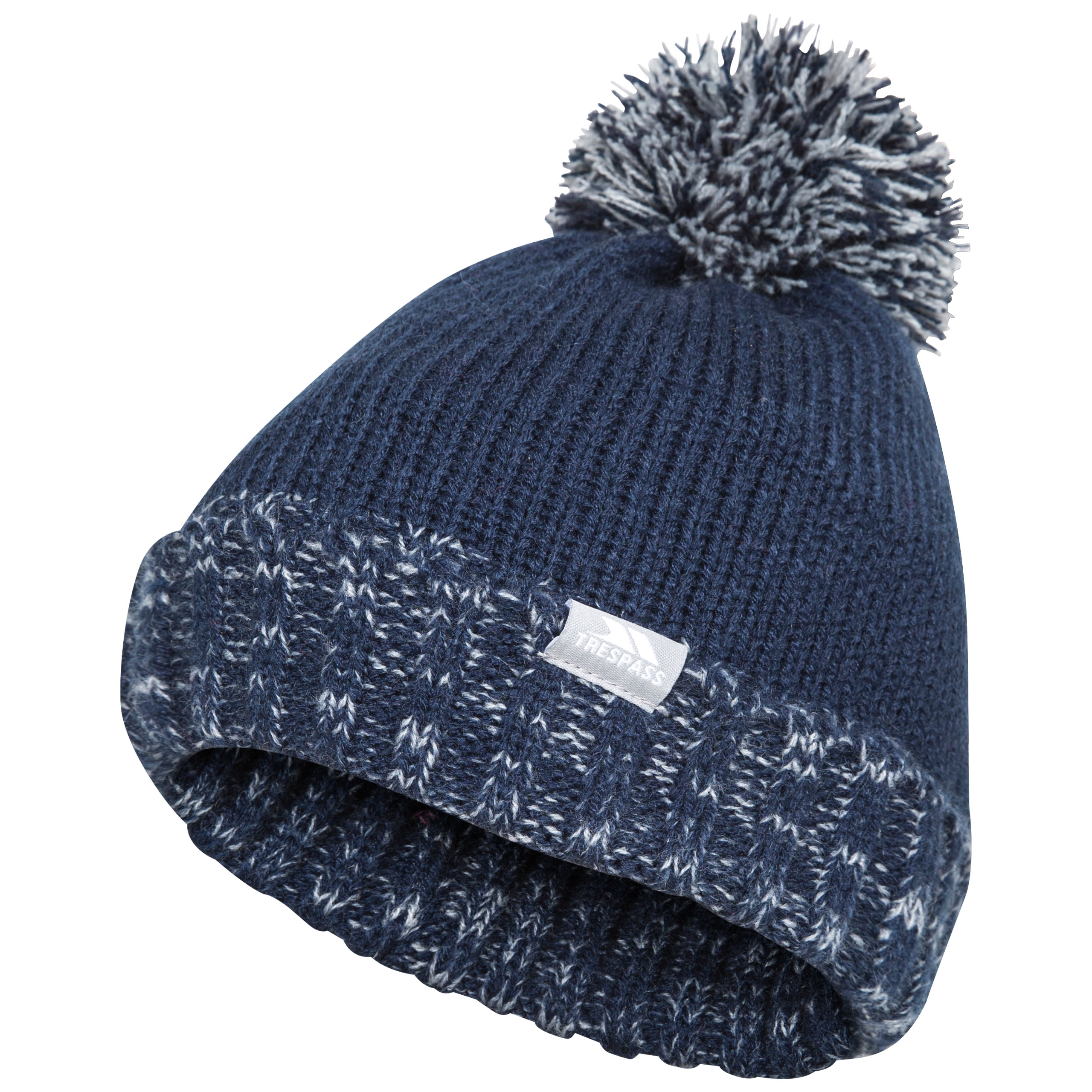 Trespass Nefti Kids Pom Pom Beanie Boys Girls Warm Winter Hat For ... 5070404fb61f