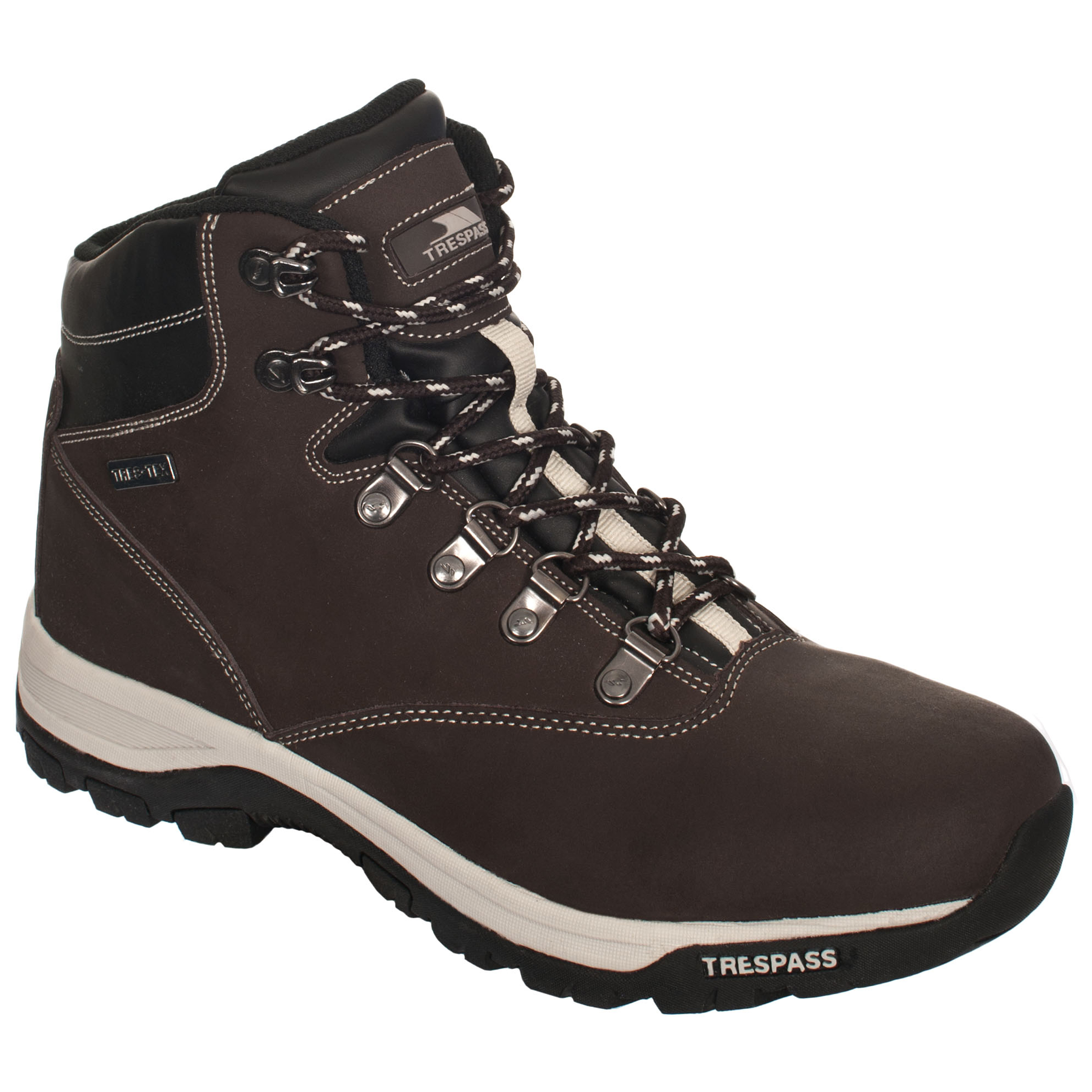 trespass novelo mens leather walking boots waterproof