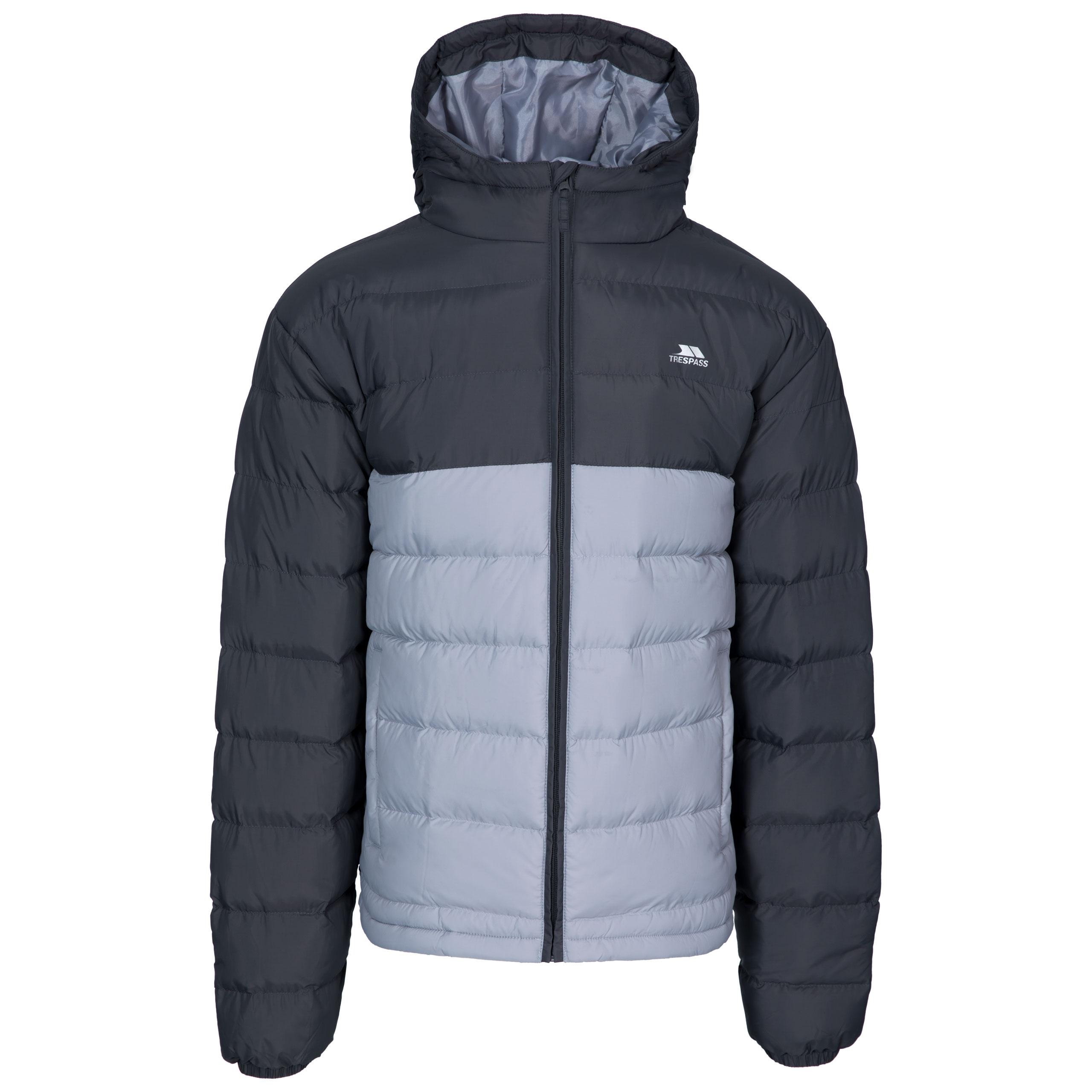Trespass Mens Oskar Insulated Padded Quilted Hooded Jacket