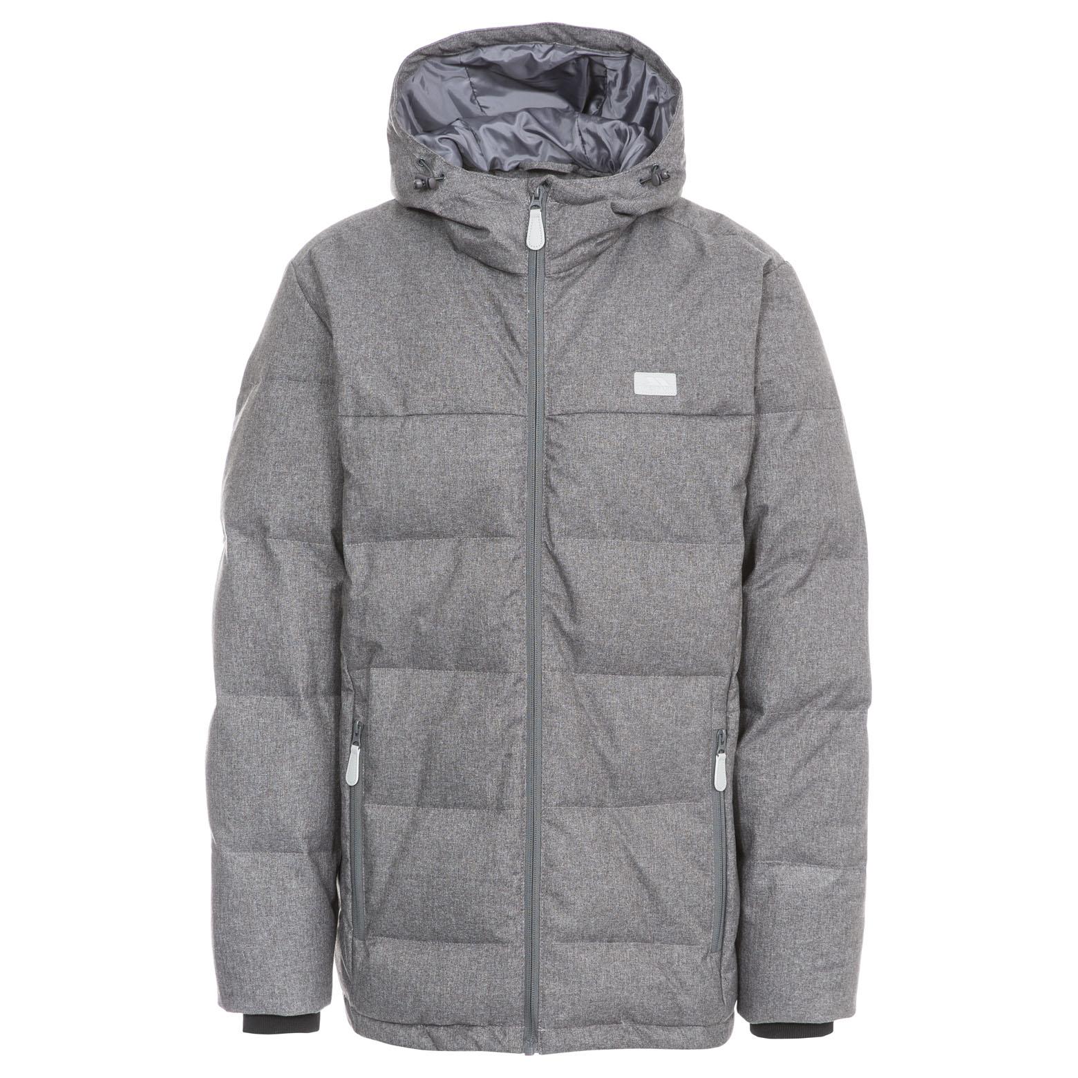 Trespass Sadler Mens Winter Down Jacket Hooded Warm Padded Coat | eBay