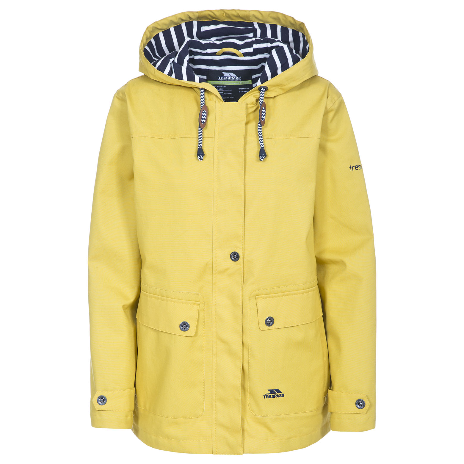 Trespass Seawater Womens Hooded Raincoat Waterproof Ladies ...