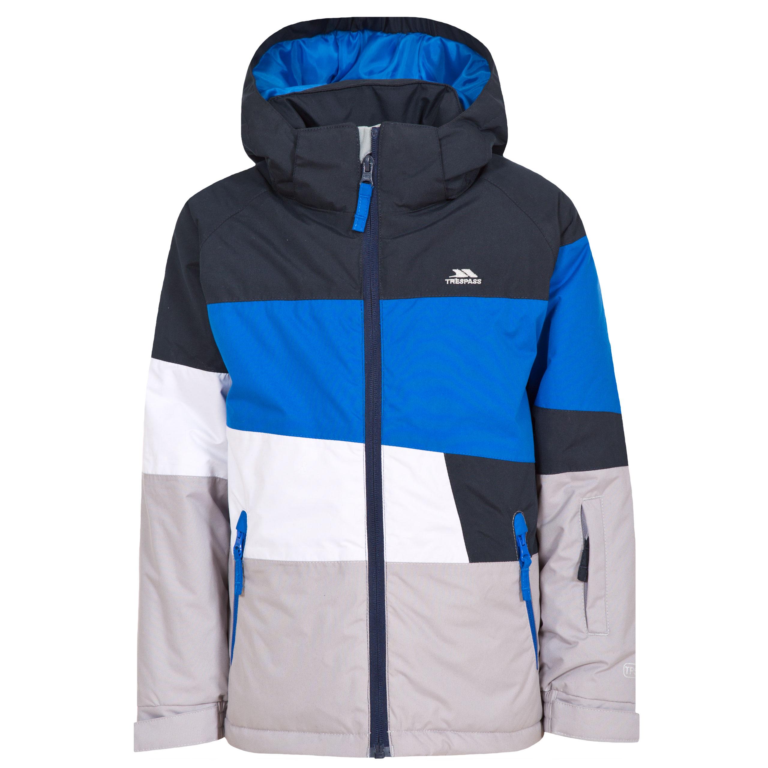 trespass sedley boys ski waterproof jacket winter insulated hooded #1: sedley mcjkskm blu a 1