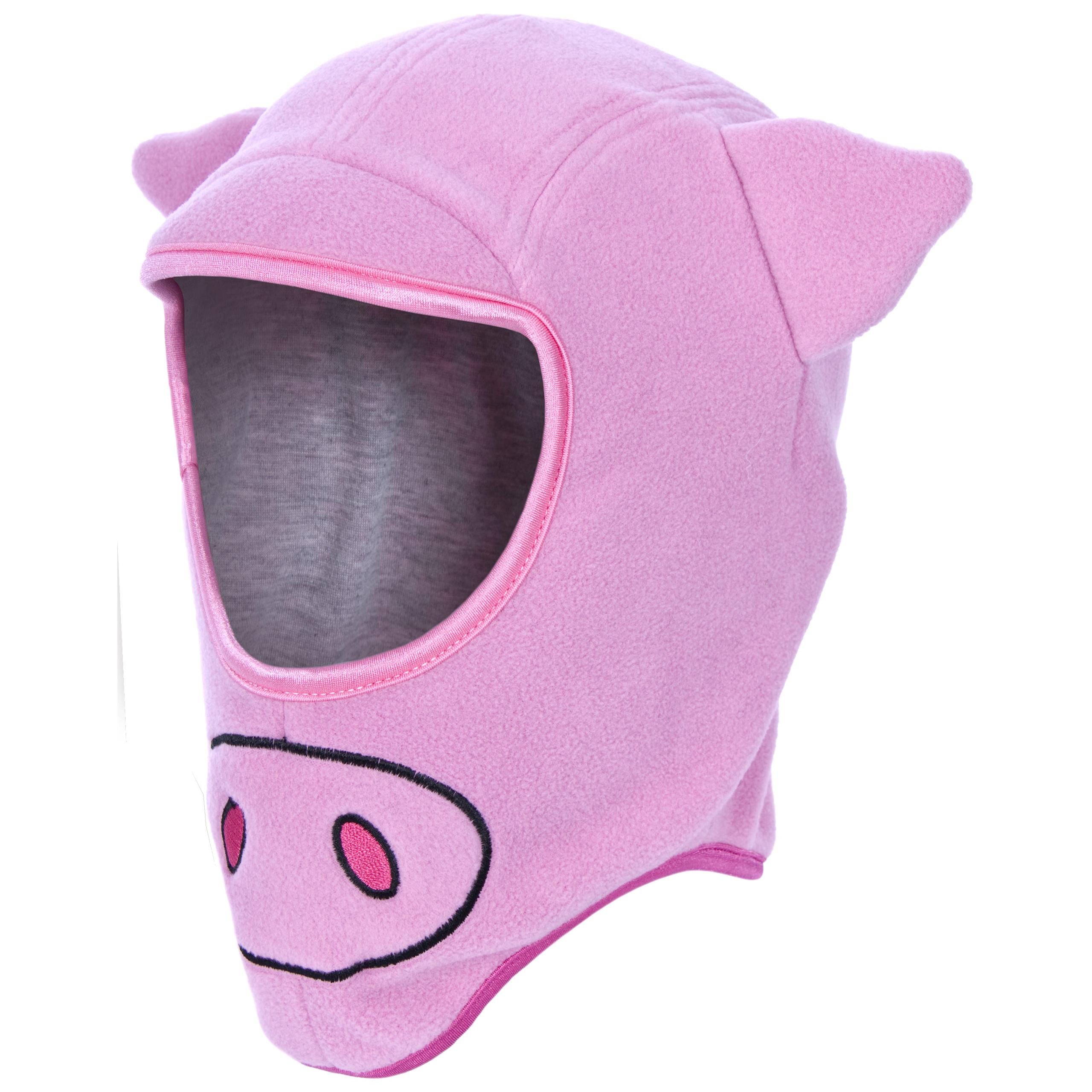 Details about Trespass Snout Kids Novelty Pig Balaclava Warm Winter Pink Hat  for Girls fd341d60915
