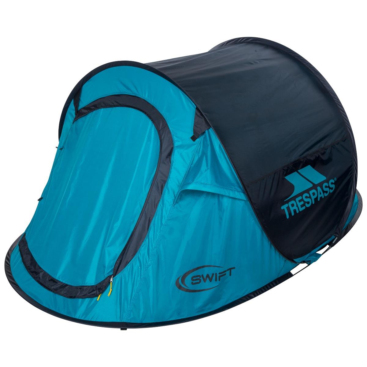 Trespass Camping Tent Waterproof 2 Man Pop Up Hiking Festival Fishing Swift2