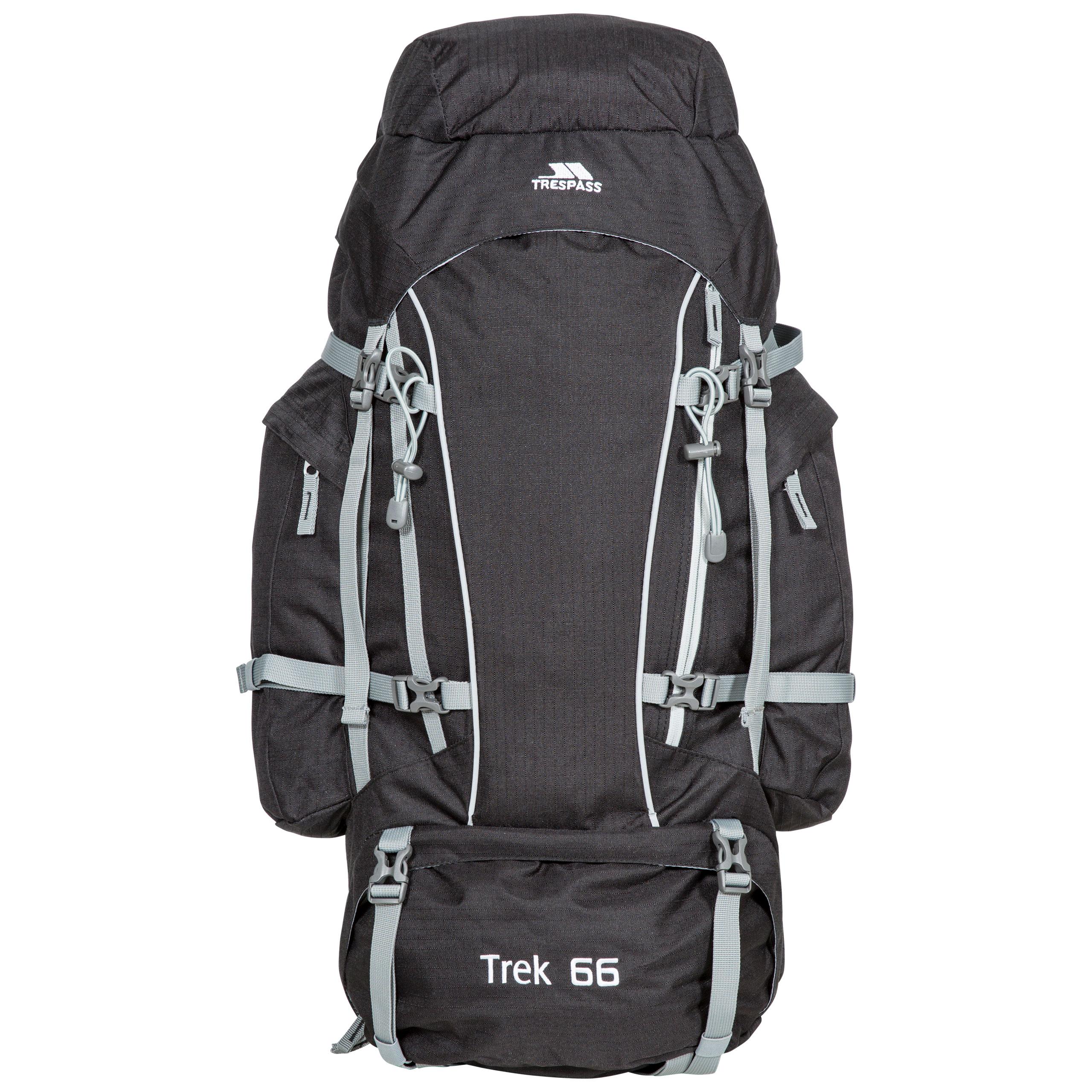 Trespass Trek 66 Escursionismo Zaino Viaggi Viaggi Zaino Zaino con parapioggia 3 COLORI e5dcc1