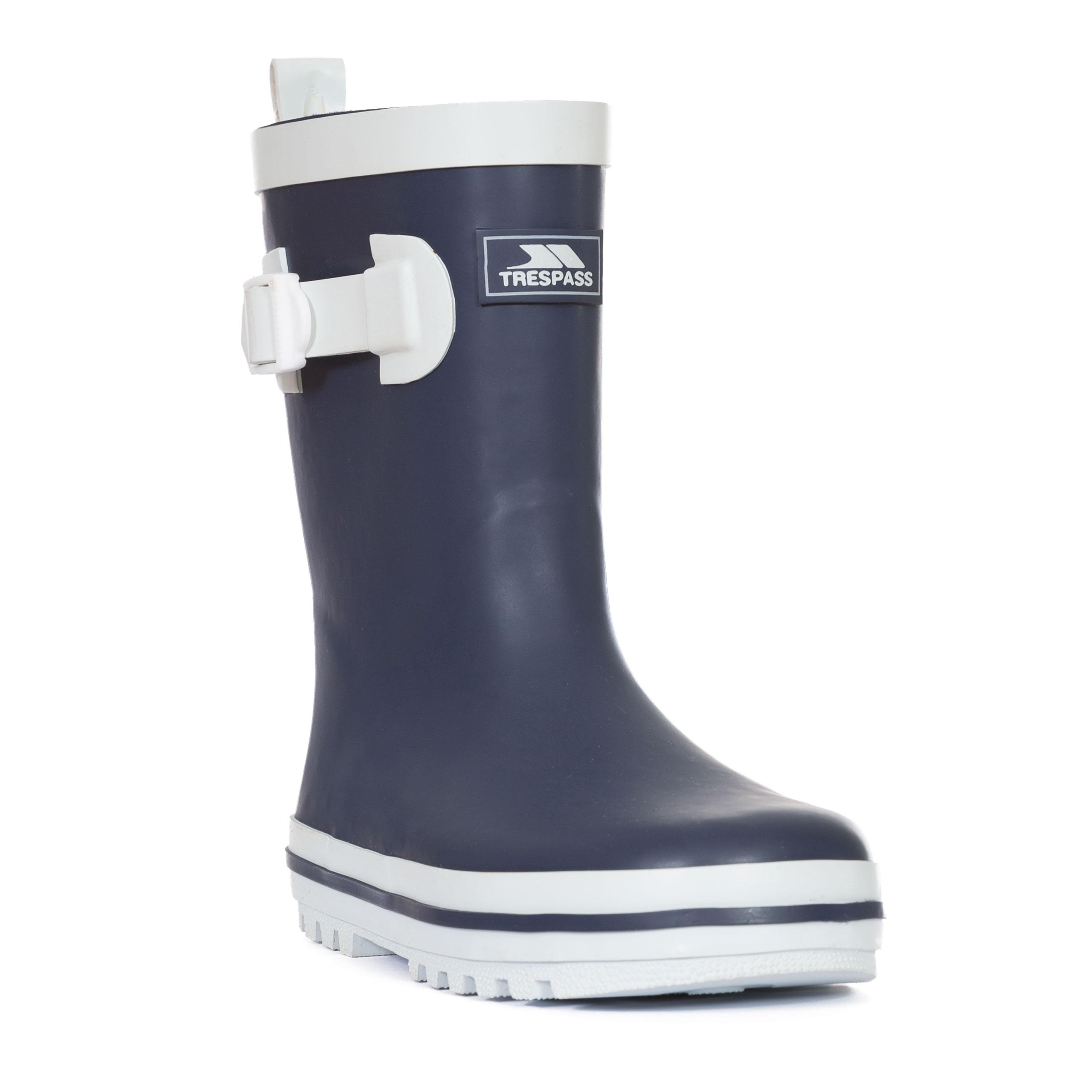 Trespass-Trumpet-Kids-Waterproof-Rain-Wellies-Boys-Girls-Rubber-Wellington-Boot thumbnail 19