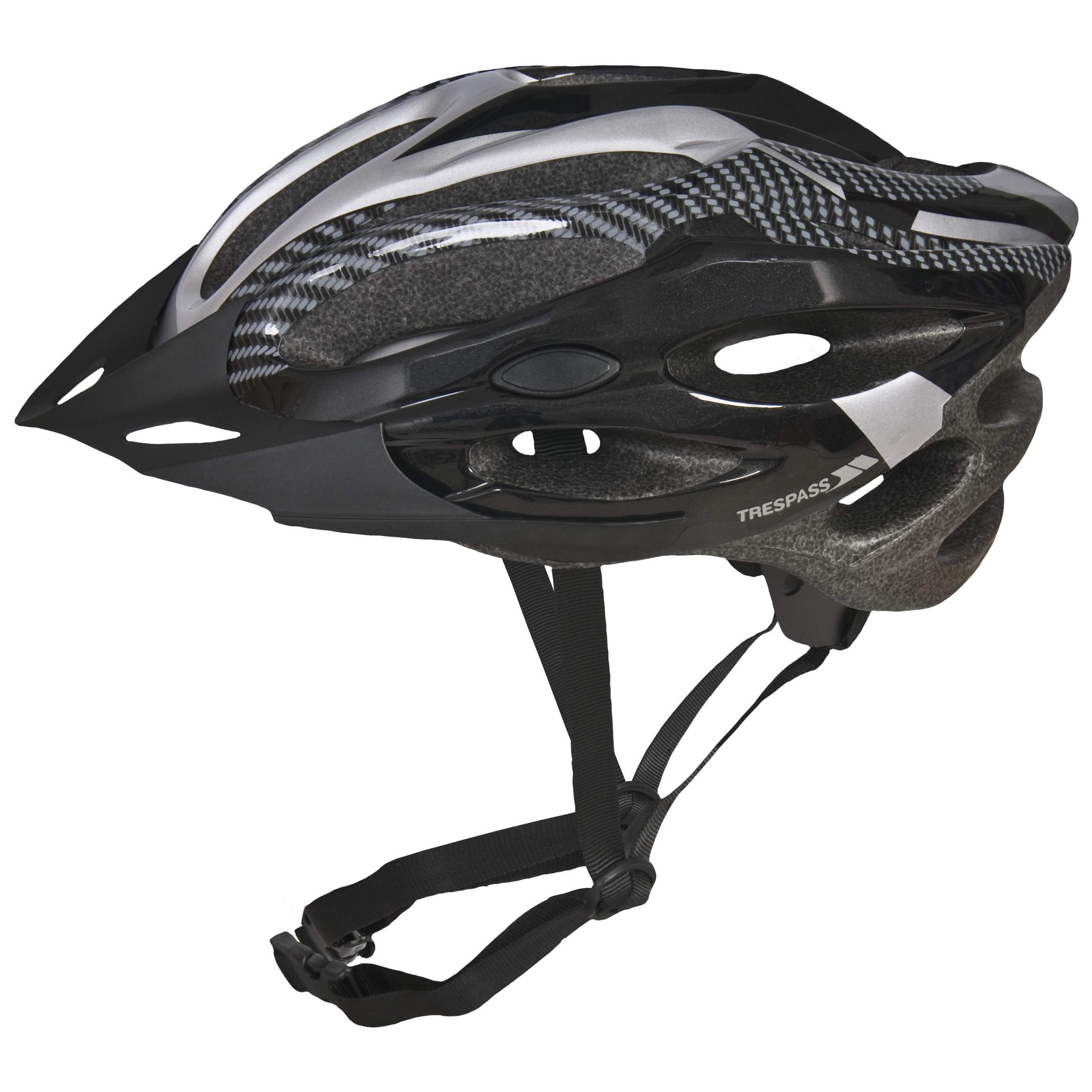 Trespass-Crankster-Adults-Cycling-Bike-Helmet-Lightweight-in-Black-White-Red thumbnail 14