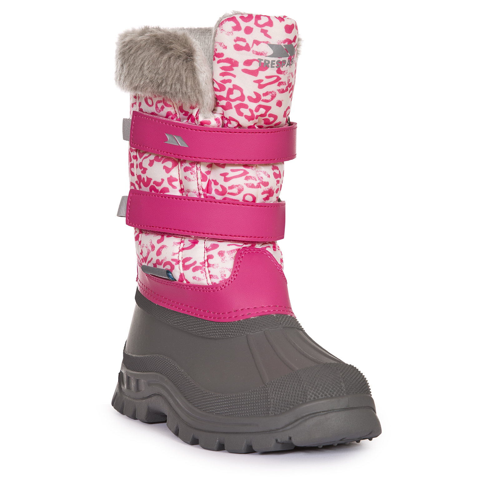 Trespass Vause Kids Insulated Snow Boots Warm Winter Shoes for Girls Boys