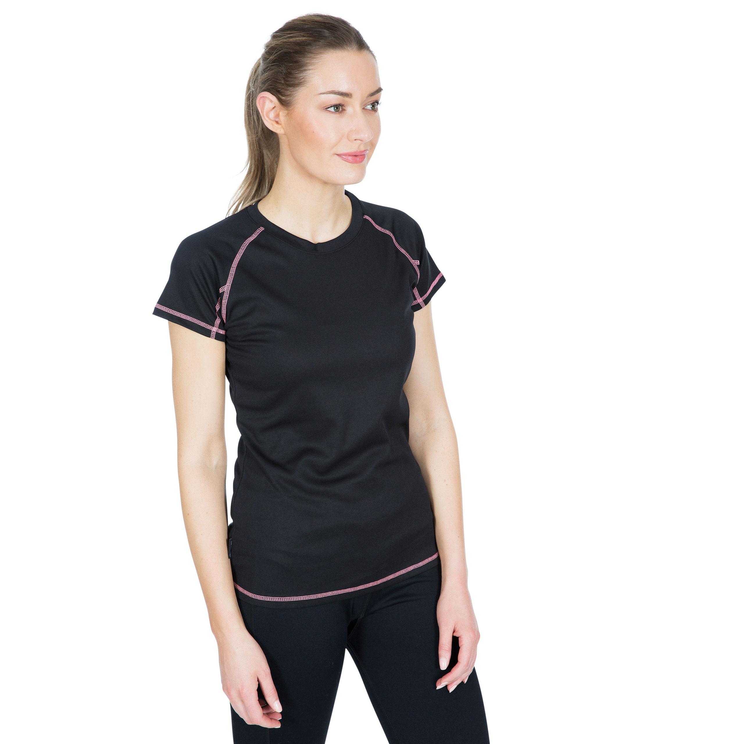 Trespass-Viktoria-Womens-Short-Sleeved-Active-T-Shirt-Gym-Top-For-Ladies thumbnail 15