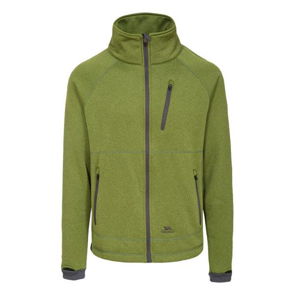 Trespass Walkway Mens Full Zip Waterproof Fleece Jacket Green ...