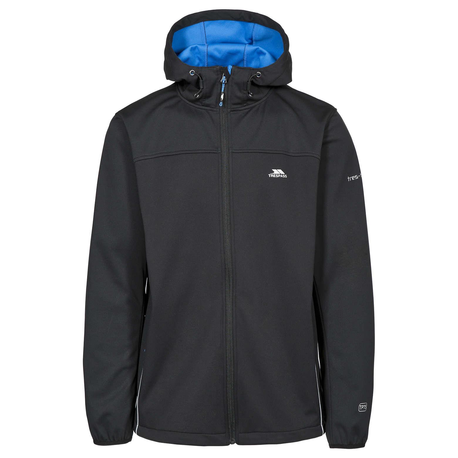 Trespass-Zeek-Para-Hombre-Impermeable-Transpirable-Abrigo-chaqueta-de-cascara-suave-con-capucha miniatura 16
