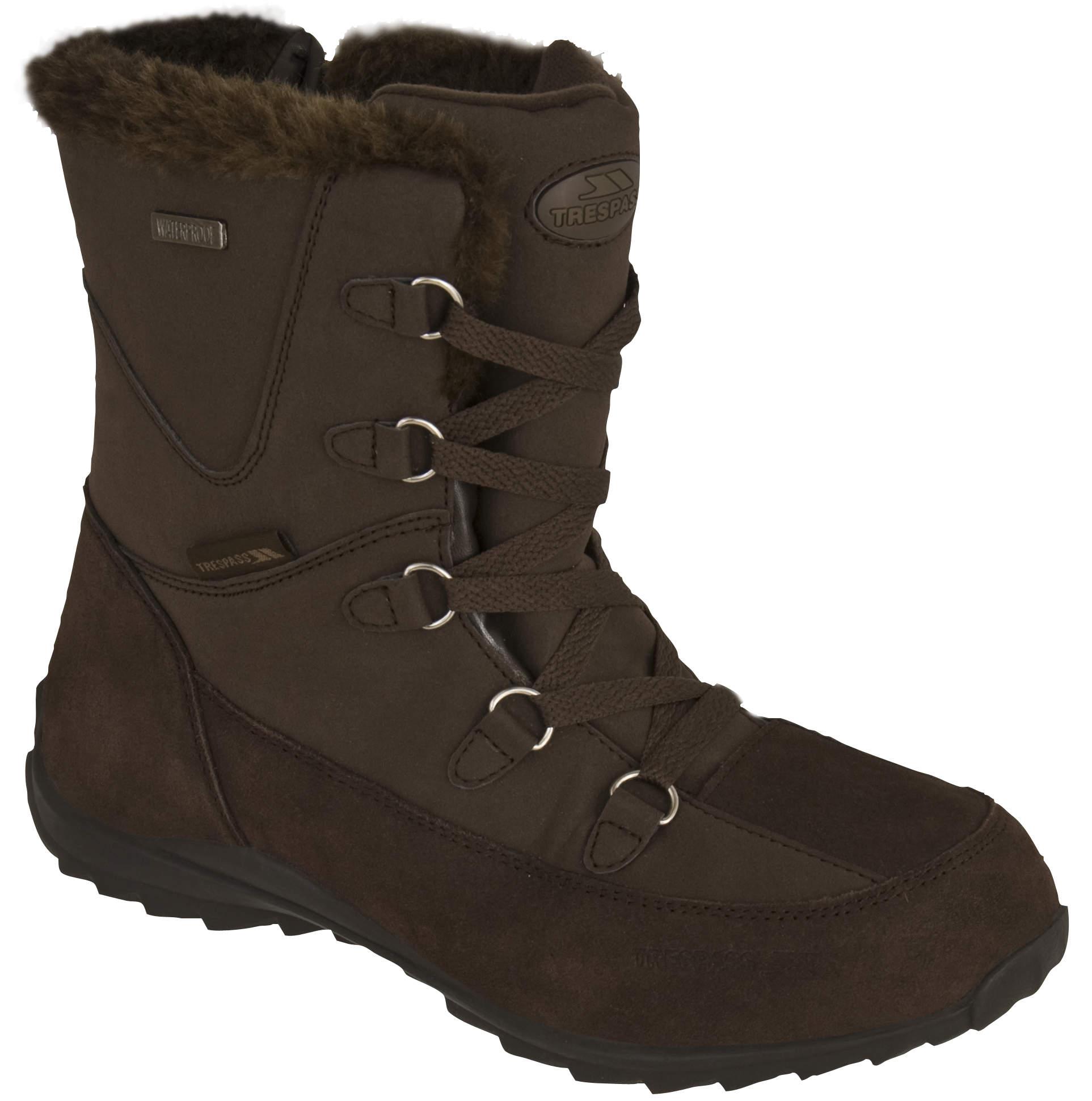 trespass zima womens waterproof winter snow shoes