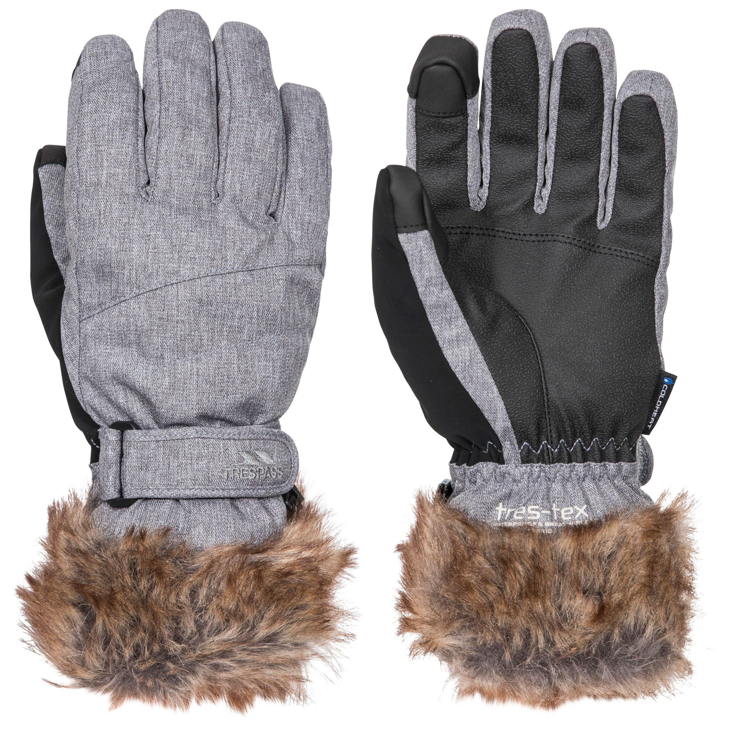 Shiloh Womens Gloves With Faux Fur Cuff