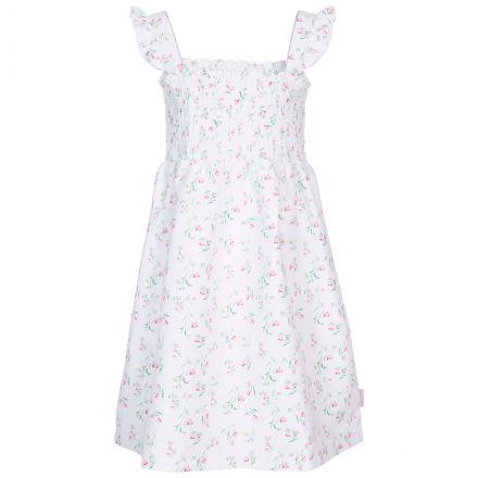 Trespass Kids Sleeveless Dress White Print Annlily