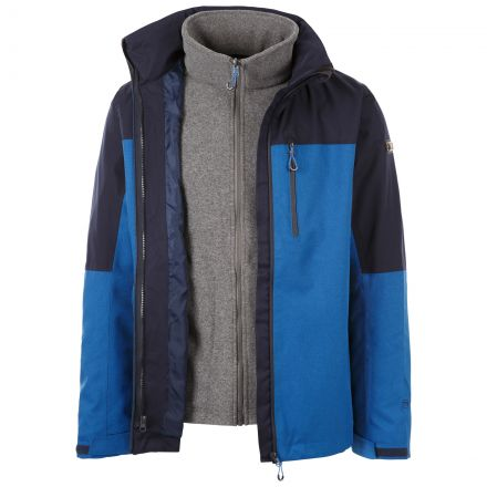 Trespass Mens 3-in-1 Jacket Austerywick - BLU