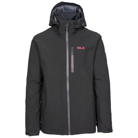 Isaac Men's DLX Ski Jacket with RECCO - BLK, Front view on mannequin