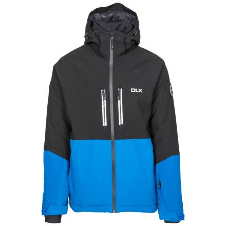 Nelson Men's DLX Ski Jacket with RECCO in Blue, Front view on mannequin