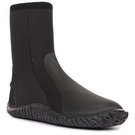 Trespass Adult's Aqua Boot Raye Black, Angled view of footwear