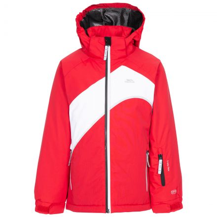 Trespass Womens Ski Jacket Welcome - RED, Front view on mannequin