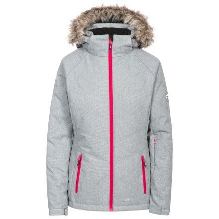 Always Women's Ski Jacket in Light Grey, Front view on mannequin