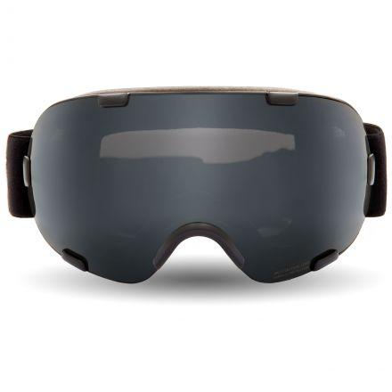 Bond DLX Ski Goggles in Black, Front view