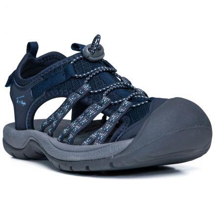 Brontie Women's Protective Drawstring Walking Sandals  in Navy, Inside view of footwear