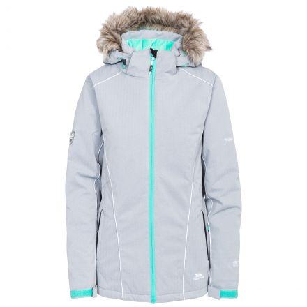 Trespass Womens Ski Jacket Waterproof Caitly in Platinum
