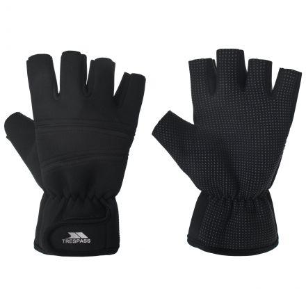 Trespass Adults Fingerless Gloves in Black Carradale