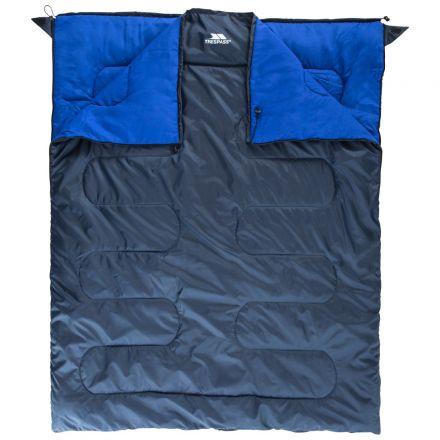 Catnap 3 Season Double Sleeping Bag in Navy, Fastening detail of sleeping bag