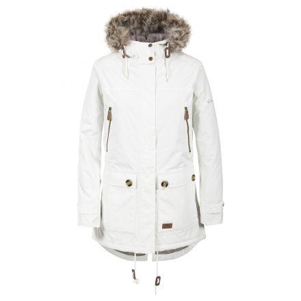 Clea Women's Waterproof Parka Jacket in White