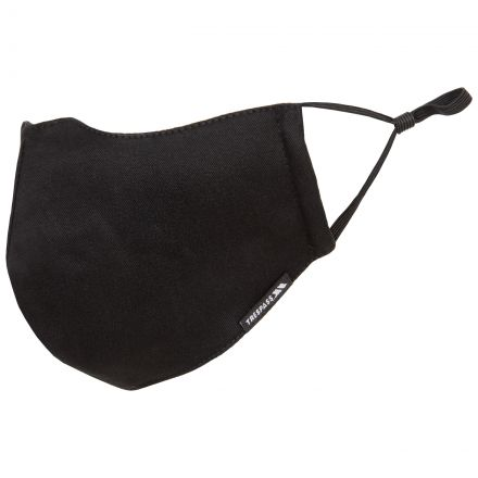Cloth Face Mask with 3 Filters in Black, Front view