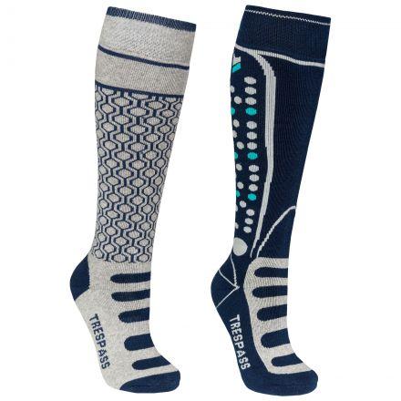 Concave Kids' Ski Socks - 2 Pack in Grey