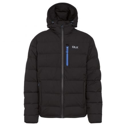 Crane Men's DLX Hooded Down Jacket in Black