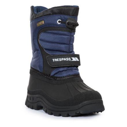 Trespass Kids Snow Boots Water Resistant Fleece Lined Dodo Navy