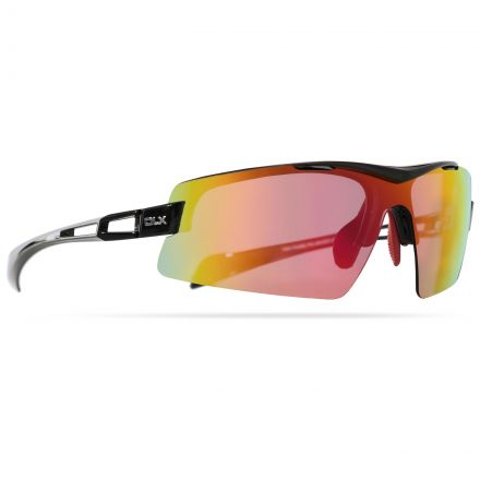 Doppler Adults' DLX Sunglasses in Black, Front view