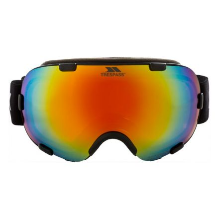 Elba Adults' DLX Ski Goggles in Black, Front view
