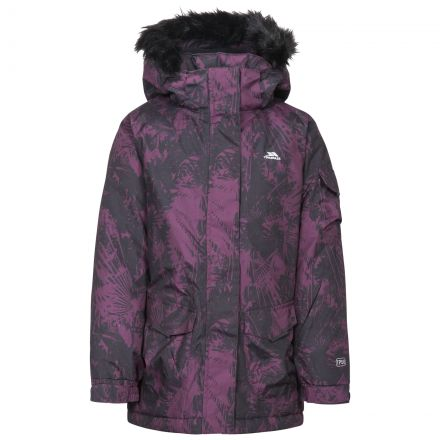 Eloquence Girls' Windproof Insulated Waterproof Ski Jacket in Purple