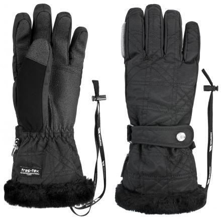 Gem Adults' Ski Gloves in Black