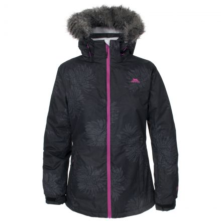 SUGARLOAF Women's Faux Fur Trim Ski Jacket in Black