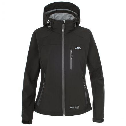 Trespass Womens Softshell Jacket Windproof Bela Black