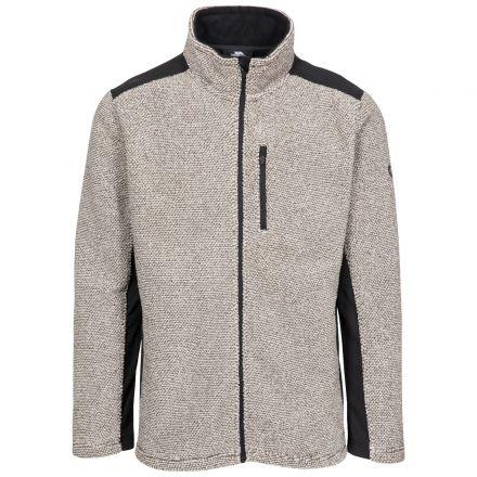 Faratino Men's Knitted Striped Fleece Jacket